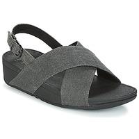 Zapatos Mujer Sandalias FitFlop LULU CROSS BACK-STRAP SANDALS Negro