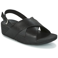 Zapatos Mujer Sandalias FitFlop LULU CROSS BACK-STRAP SANDALS - LEATHER Negro