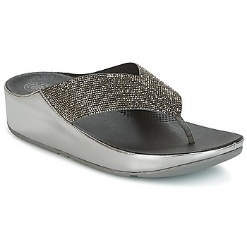 Zapatos Mujer Zuecos (Mules) FitFlop CRYSTALL Pewter