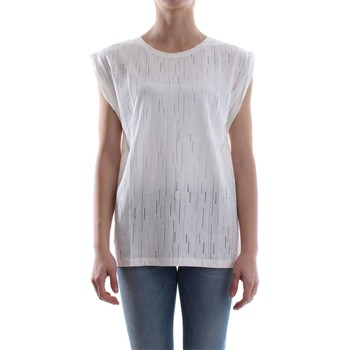 textil Mujer Tops / Blusas Pinko FACOLTOSO T-SHIRT Mujer Bianco Bianco