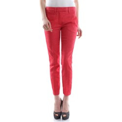 textil Mujer pantalones con 5 bolsillos Dondup PERFECT CS066D 002 PDH PANTALÓN Mujer Rosso Rosso