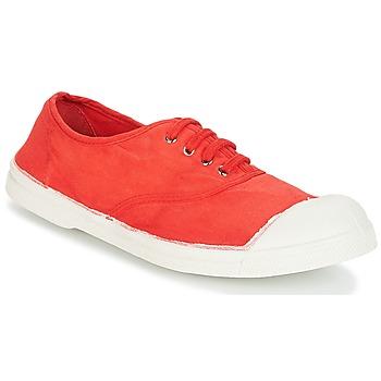 Zapatos Mujer Zapatillas bajas Bensimon TENNIS LACET Rojo