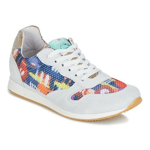 Zapatos casuales salvajes Zapatos especiales Ippon Vintage RUN-SEVENTY Blanco / Multicolor / Oro
