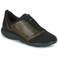 Zapatos Mujer Zapatillas bajas Geox D NEBULA C Oro / Negro