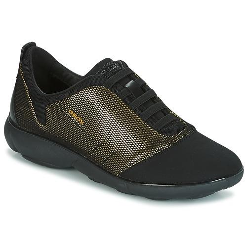 Moda barata y hermosa Geox D NEBULA C Oro / Negro - Envío gratis Nueva promoción - Zapatos Deportivas bajas Mujer