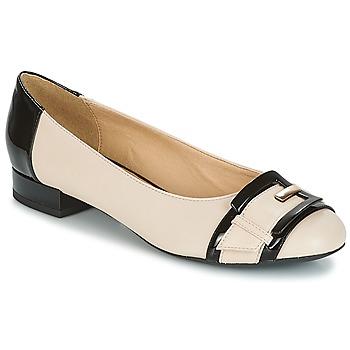 Zapatos Mujer Bailarinas-manoletinas Geox WISTREY E Nude / Negro