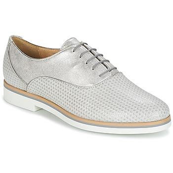 Zapatos Mujer Derbie Geox JANALEE A Gris / Blanco