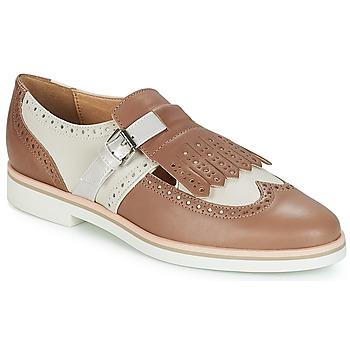 Zapatos Mujer Derbie Geox JANALEE B Arena / Blanco