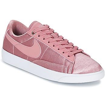 Zapatos Mujer Zapatillas bajas Nike BLAZER LOW SE W Rosa