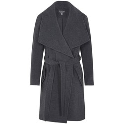 textil Mujer Trench De La Creme Abrigo de abrigo de cachemir de lana de invierno Grey