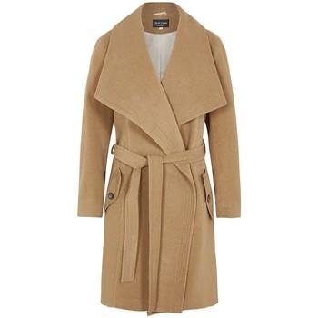 textil Mujer parkas De La Creme Abrigo de abrigo de cachemir de lana de invierno BEIGE