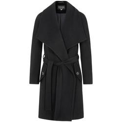 textil Mujer Abrigos De La Creme - Capa de Cachemira de Lana de Invierno Para Mujer Con Cuello G Black