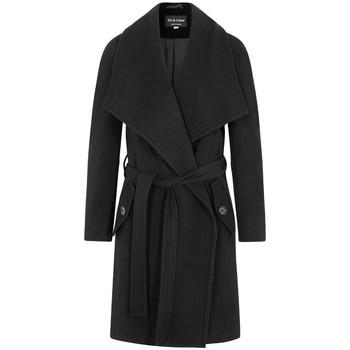 textil Mujer Abrigos De La Creme Abrigo de abrigo de cachemir de lana de invierno Black