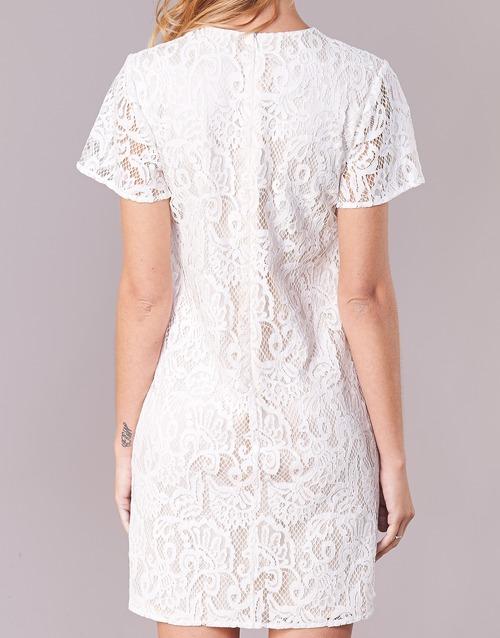 Pristouc Benetton Blanco Vestidos Cortos Textil Mujer eWrdCQBox