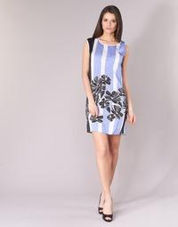 textil Mujer vestidos cortos Sisley LAPOLLA Azul / Blanco / Negro