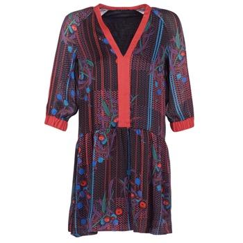 textil Mujer vestidos cortos Sisley CEPAME Negro / Rojo / Azul