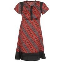 textil Mujer vestidos cortos Sisley ZEBRIOLO Rojo / Negro