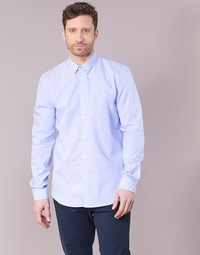 textil Hombre camisas manga larga Sisley KELAPSET Azul / Claro
