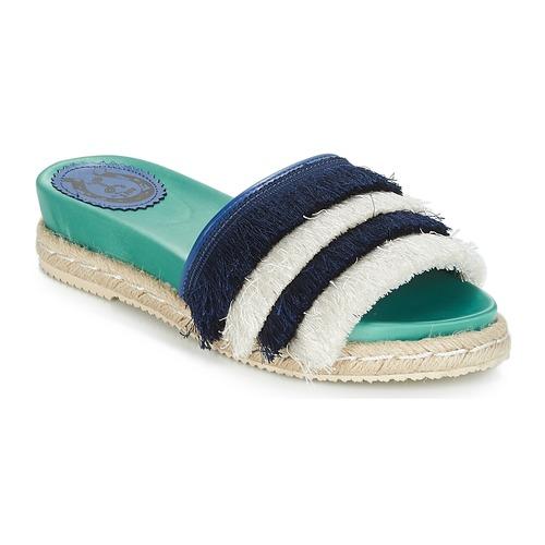 Zapatos cómodos y versátiles Miss L'Fire ZOEY Marino / Verde - Envío gratis Nueva promoción - Zapatos Zuecos (Mules) Mujer