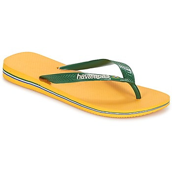 Zapatos Chanclas Havaianas BRAZIL LOGO Amarillo