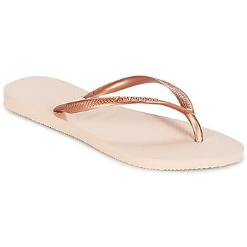 Zapatos Niña Chanclas Havaianas SLIM Rosa / Oro