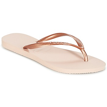 Zapatos Mujer Chanclas Havaianas SLIM Rosa / Oro