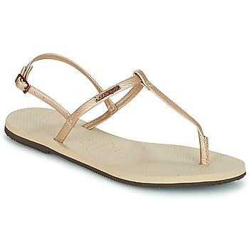 Zapatos Mujer Sandalias Havaianas YOU RIVIERA Beige