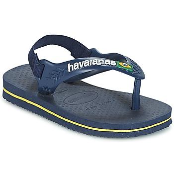 Zapatos Niño Chanclas Havaianas BABY BRASIL LOGO Marino / Amarillo