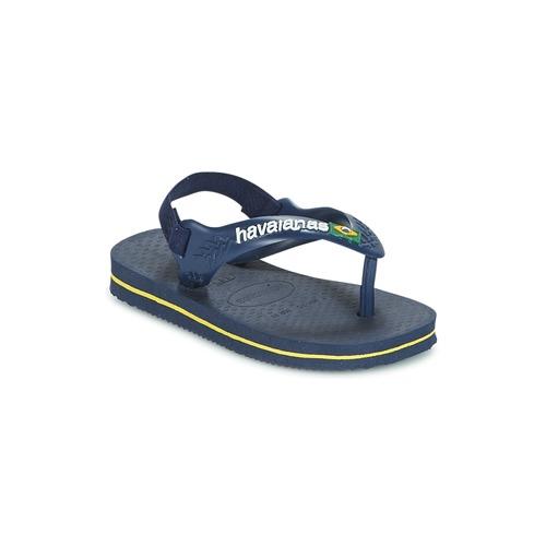 Havaianas BABY BRASIL LOGO Marino / Amarillo - Envío gratis | ! - Zapatos Chanclas Nino