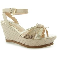 Zapatos Mujer Sandalias Guess HELWYN2 Zeppa Wedge Leather Nude