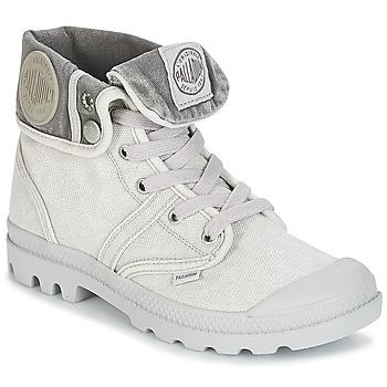 Zapatos Mujer Botas de caña baja Palladium US BAGGY Gris / Metal