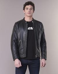textil Hombre Chaquetas de cuero / Polipiel Diesel L SQUAD Negro