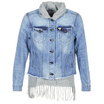 textil Mujer chaquetas denim Scotch & Soda XAOUDE Azul / Claro / Gris