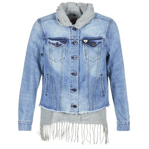 Maison Denim Xaoude Scotch Mujer Chaquetas AzulClaro Textil Gris 3Aj5L4Rq