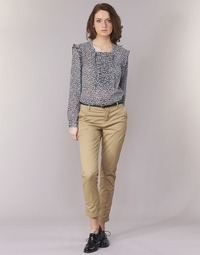 textil Mujer pantalones chinos Maison Scotch BEIBEO Beige