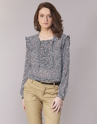 textil Mujer Tops / Blusas Maison Scotch OLZAKD Negro / Blanco