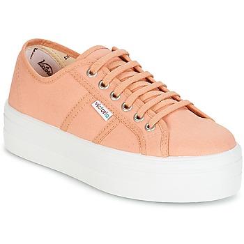 Zapatos Mujer Zapatillas bajas Victoria BLUCHER LONA PLATAFORMA Naranja