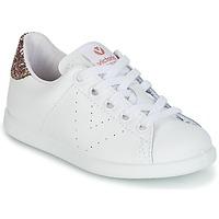 Zapatos Niña Zapatillas bajas Victoria DEPORTIVO BASKET PIEL KID Blanco