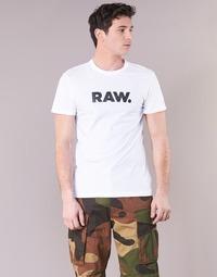 textil Hombre camisetas manga corta G-Star Raw HOLORN R T S/S Blanco