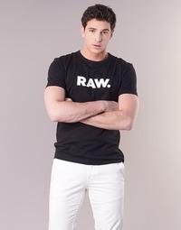 textil Hombre camisetas manga corta G-Star Raw HOLORN R T S/S Negro