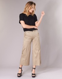 textil Mujer pantalones chinos G-Star Raw BRONSON HIGH LOOSE CHINO 7/8 WMN Beige
