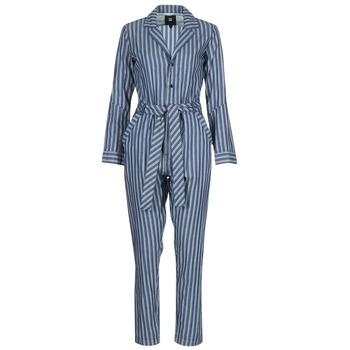 textil Mujer Monos / Petos G-Star Raw DELINE JUMPSUIT WMN L/S Azul / Blanco