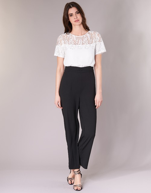 Negro Textil Mujer Bracken Molly Yuritoe MonosPetos Blanco 34ALjq5R
