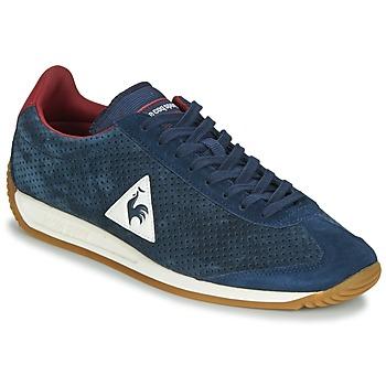 Zapatos Hombre Zapatillas bajas Le Coq Sportif QUARTZ PERFORATED NUBUCK Azul / Rojo