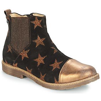 Zapatos Niña Botas de caña baja GBB LEONTINA Negro / Bronce