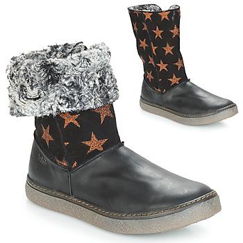 Zapatos Niña Botas urbanas Achile DUBROVNIK Negro / Cobre