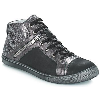 Zapatos Niña Botas urbanas GBB KAMI Vts / Negro plata / Dpf / Basket