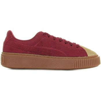 Zapatos Mujer Zapatillas bajas Puma Suede Platform Glam Jr Oro