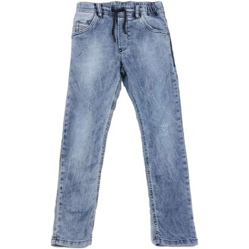 textil Niños vaqueros rectos Diesel KROOLEY-NE J 00J3AJ VAQUEROS niño DENIM LIGHT BLUE DENIM LIGHT BLUE