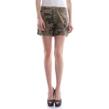 textil Mujer Shorts / Bermudas Mason's 4BE1A127PAT CBE2S19 CHILE BERMUDAS Y PANTALONES CORTOS Mujer Ve Verde militare